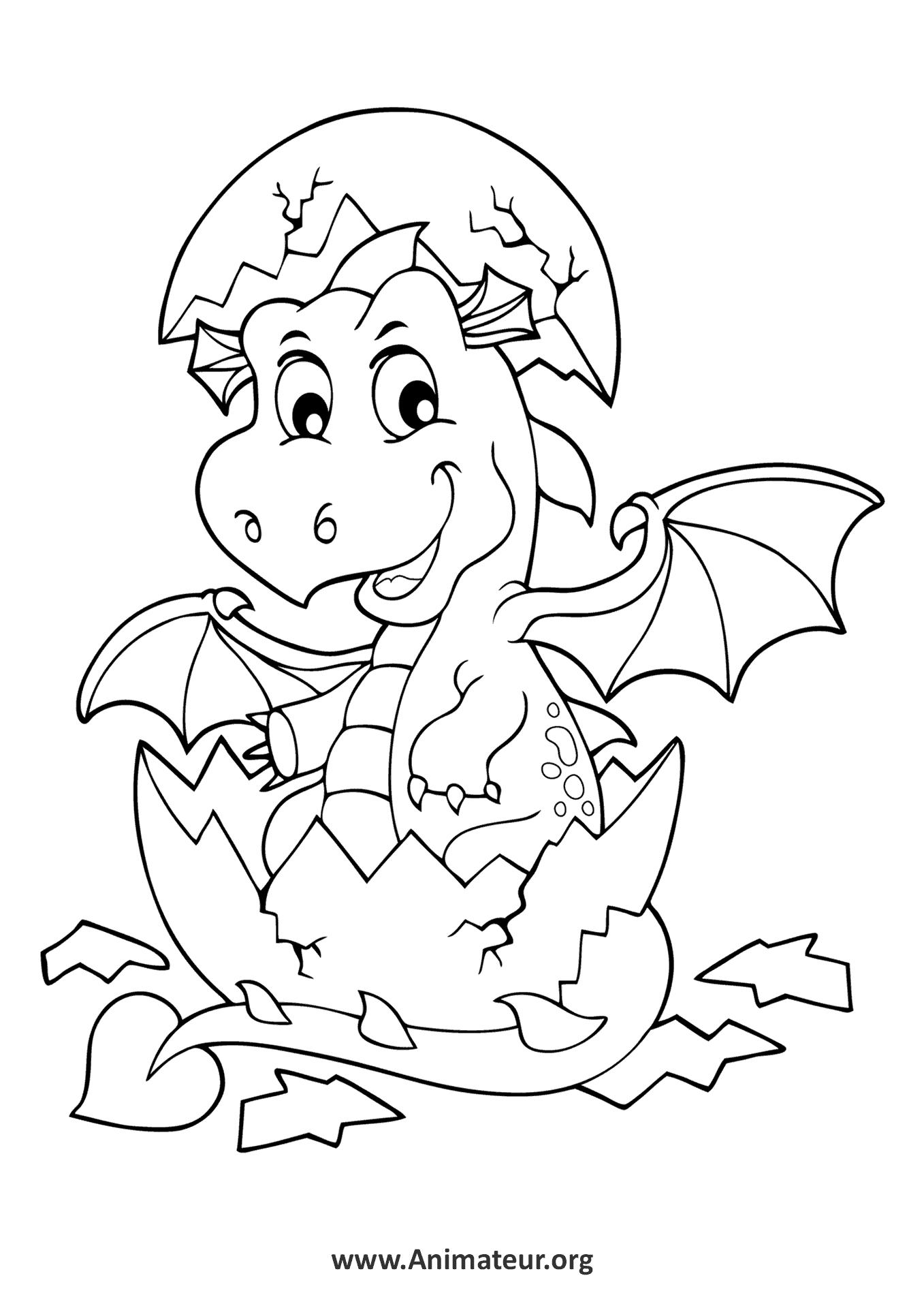 Coloriages de Dragons